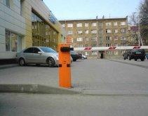 Установленный ООО «Термо-Сервис» шлагбаум