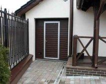 Ворота гаражные с встроенной калиткой