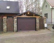 длинные ворота гаража
