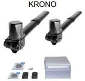 Комплект автоматики для двухстворчатых распашных ворот на основе привода KR310 (блок ZF1N, радиоуправление, фотоэлементы)